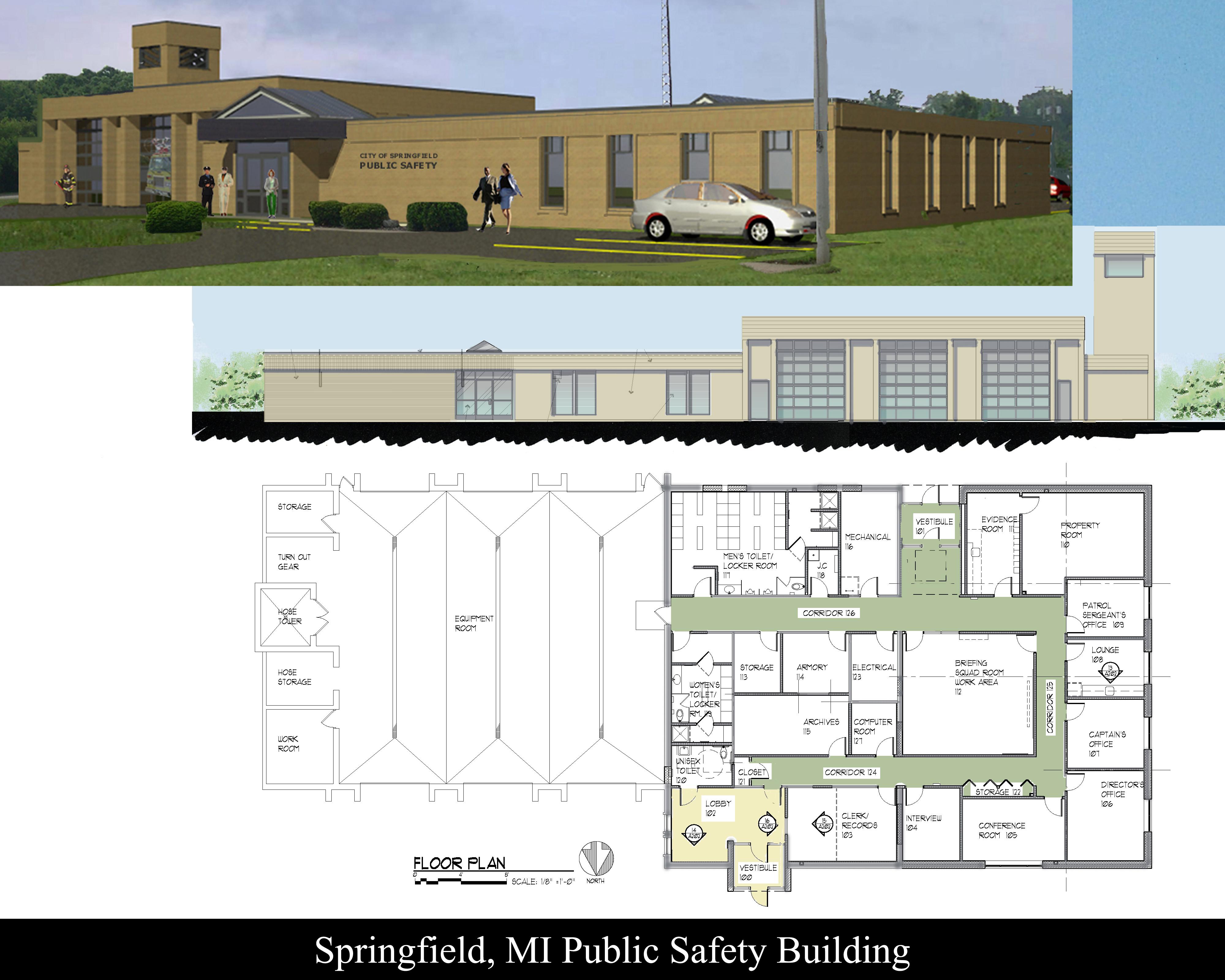 Public Safety Addition – Design-Build, Springfield, MI